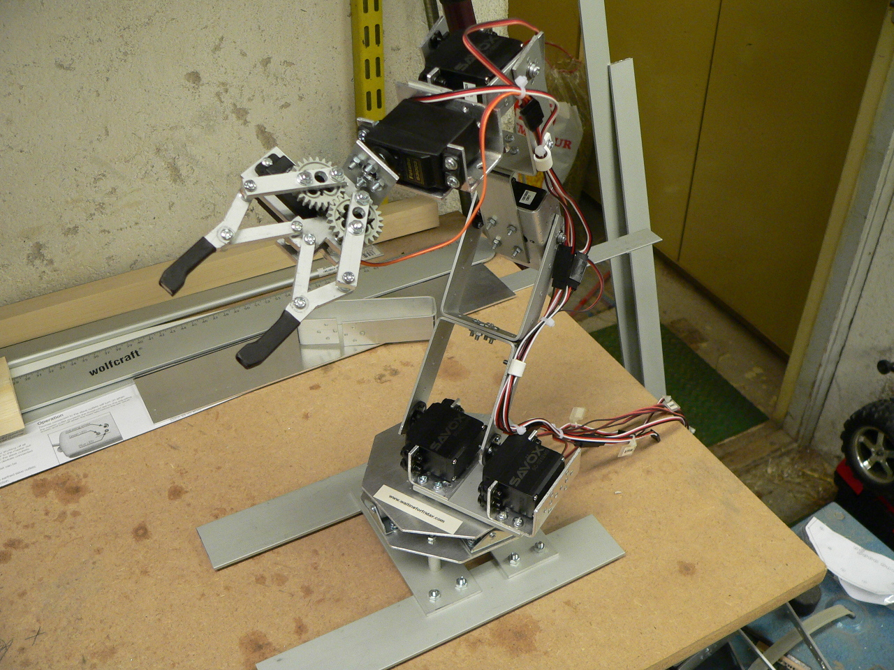 Building A Robot Arm Waiting For Friday