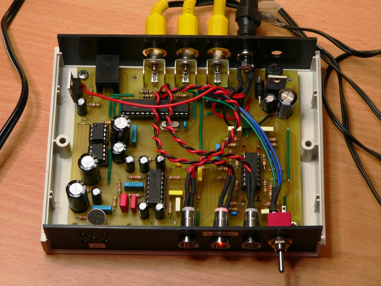 Led Colour Organ Waiting For Friday Light Circuit Diagram Circuits Lab Tomte Mounted Inside The Case