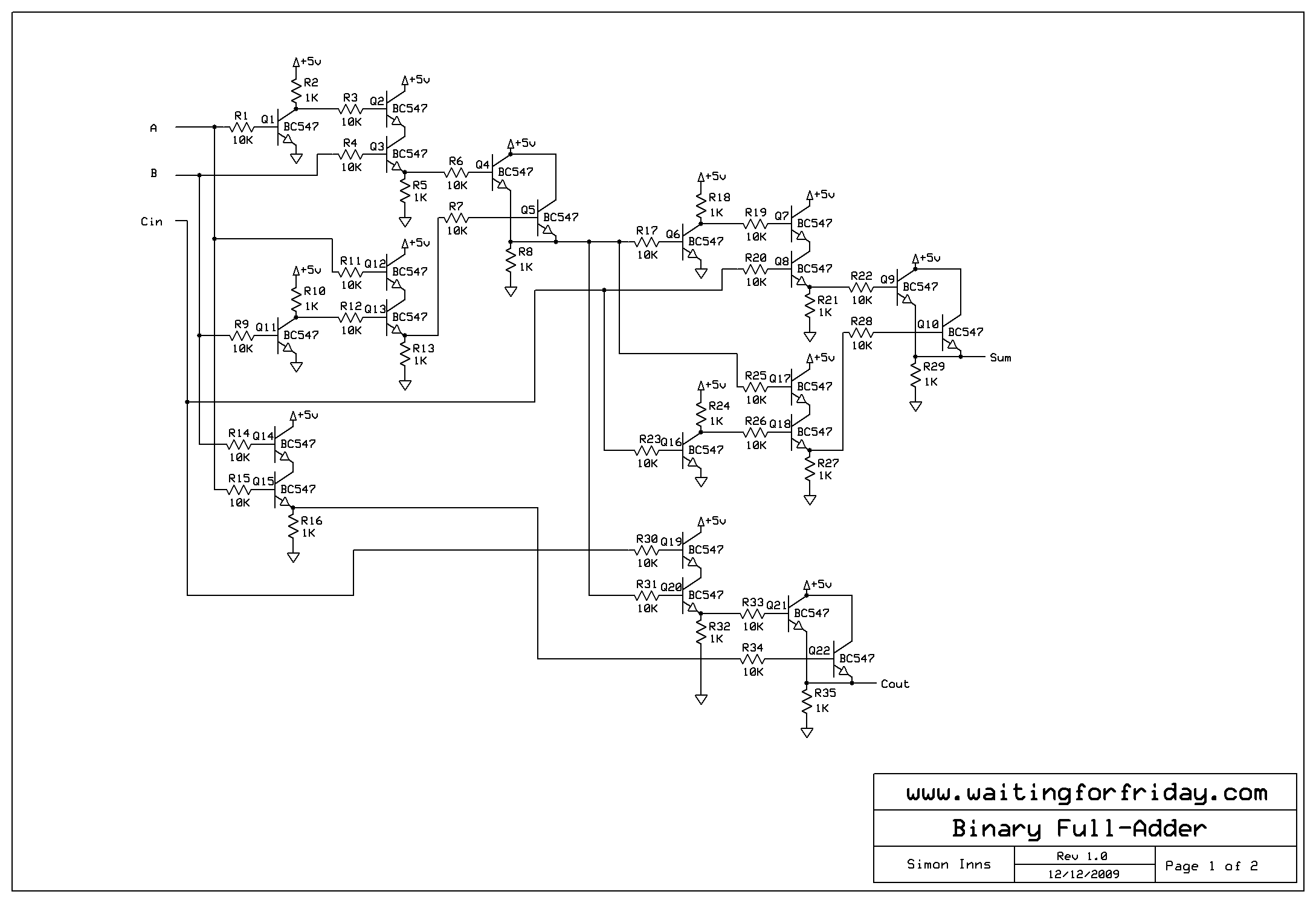 Full-adder circuit schematic