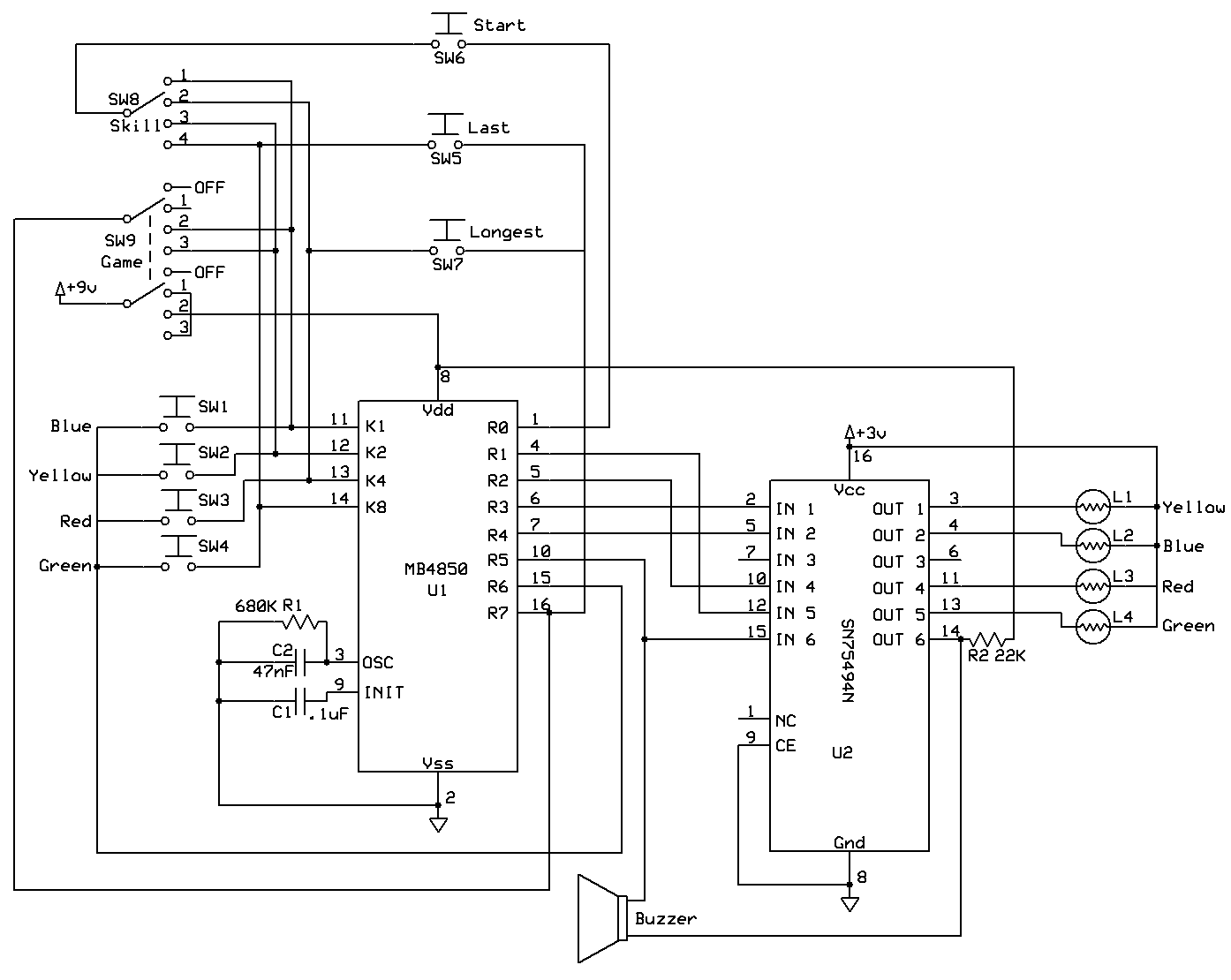 reverse engineering an mb electronic simon game  u2013 waiting for friday
