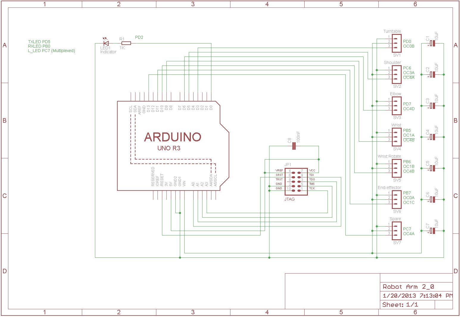 Arm Jtag Programmer Schematicon Arm Jtag 20 Pin Connector