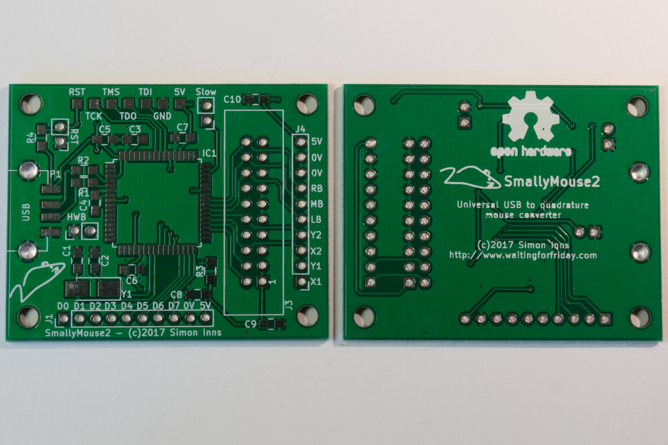 Smallymouse2 Universal Usb To Quadrature Mouse Adapter Waiting Further Charger Circuit Diagram On Wiring For A Pcb Design